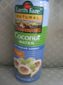 Coconut water - no added sugar, naturally sweet.  For me a fairly satisfying dessert most any day.l