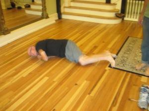 This old body creaks going across the floor.
