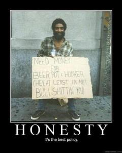 Honesty can be hard, but sometimes it's very freeing.